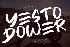 Yesto Dower Brush Font Product Image 1