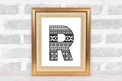 Aztec Alphabet SVG | Alphabet Letters SVG Product Image 6