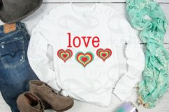 Valentine Love Retro svg Valentines Day Vintage svg cut file Product Image 3
