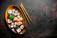 20 Photos Traditional Japanese rolls and sushi . Product Image 4