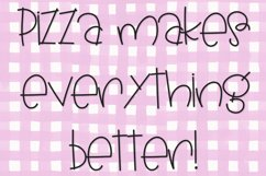 Pickle Pizza - A Handwritten Font Product Image 3