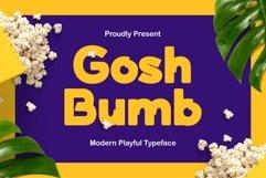 Goshbumb - Modern Playful Typeface Product Image 1