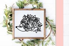 Floral Hedgehog SVG Cut File Product Image 3