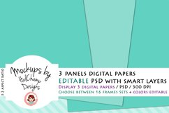 3 Panels Mockup for Digital Papers - M05 Product Image 1