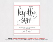 Guest book sign TOS_37 Product Image 4