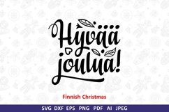 Finnish Christmas in different languages Hyvaa joulua svg Product Image 2