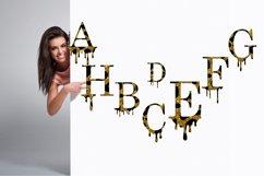 Valentines SVG, Dripping Glitte leopard Alphabet SVG Product Image 2