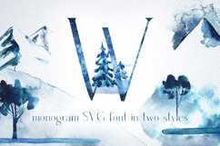 Winter Fairytale-SVG monogram and regular font in two styles Product Image 2