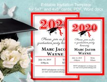 Invitation Template editable text - RED - Grade Party 2021 Product Image 4