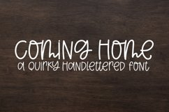 Coming Home - A Quirky Handlettered Font Product Image 1