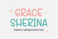 Playful Handwritten - Grace Sherina Font Product Image 1