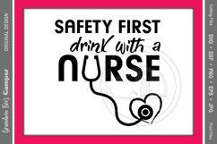 Nurse, Nurse SVG, Nurse Drinking, Safety First Product Image 2