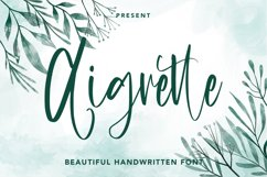 Aigrette - Beautiful Font Product Image 1