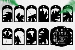 Gift tags with forest leaves bundle Product Image 1