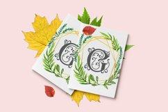 Garden Monogram Font Product Image 4