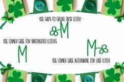 Web Font Shamrock Monogram Font - A-Z Letters Product Image 3