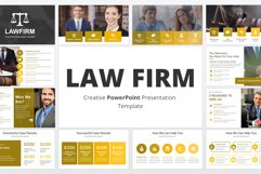 Law Firm PowerPoint Presentation Template Product Image 1