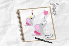 Cute Elephant Svg, Elephant Ballerina Svg, Baby Elephant Svg Product Image 1
