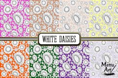 White Daisies - 16 Digital Papers/Backgrounds Product Image 3