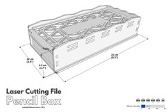 Pencil Box - laser cutting file Product Image 2