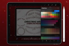 20 Christmas Wreath Stamp Brushes for Procreate Product Image 2