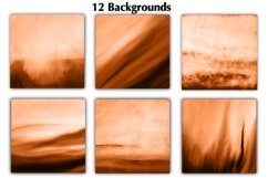 12 Orange Watercolor Ombre Backgrounds Product Image 3