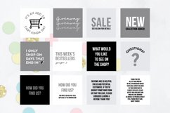 25 x Grey, Black & White Online Business Social Media Quotes Product Image 3