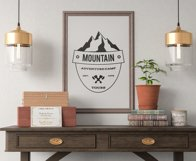 Retro Camping Insignia, Mountain Vector Logo Label SVG File Product Image 3