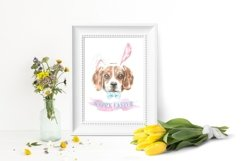 Dog watercolor.Animal Clip art Dog watercolor breeds clipart Product Image 4