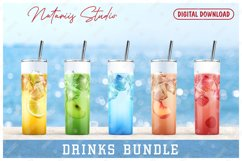 10 Realistic Drinks Patterns for 20oz SKINNY TUMBLER. Product Image 2