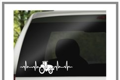Tractor Heartbeat EKG SVG Product Image 2