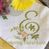 Blooming Floral Embroidery Font A-Z  Product Image 1