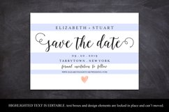 save the Date Template, Printable Save the Date Postcard Product Image 4