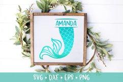 Mermaid Tail Split Monogram SVG DXF PNG Cut File Product Image 1