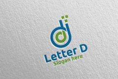 Digital Letter D Logo Design 14 Product Image 2