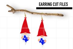 Gnome Texas Earrings Svg / Earrings Template Product Image 1