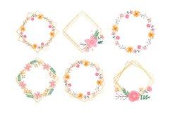 Vector Flower Illustrations Frames Product Image 6