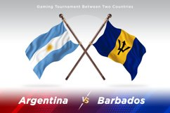 Argentina vs Barbados Two Flags Product Image 1