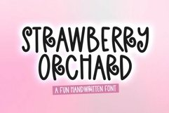 Web Font Strawberry Orchard - A Fun andwritten Font Product Image 1