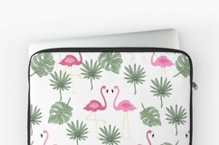 Valentines day seamless pattern Pink flamingo digital paper Product Image 10