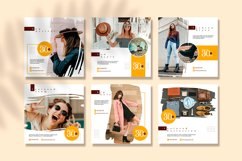 Summer Brush Instagram feed template pack Product Image 2