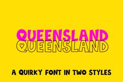 Queensland, a quirky handwritten font | two styles Product Image 1