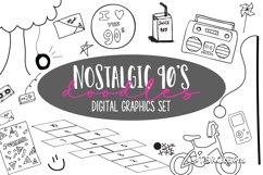 Nostalgic 90's digital graphics bundle Product Image 1