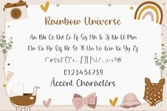 Rainbow Universe is a Modern Handwritten Font Product Image 6