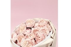 Bouquet flowers of peony roses, pink color, close up Product Image 1