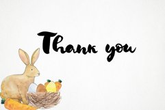 watercolor easter bunny png, rabbit easter basket, bird nest Product Image 6