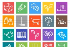 50 Gardening Line Multicolor B/G Icons Product Image 2
