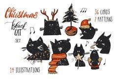 Christmas Black Cat Product Image 1