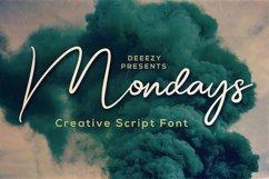 Mondays Script Font Product Image 1