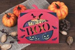 Halloween Boo Pumpkin Envelope Invitation cutting file Product Image 3